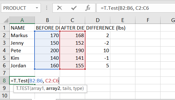 Excel table 2