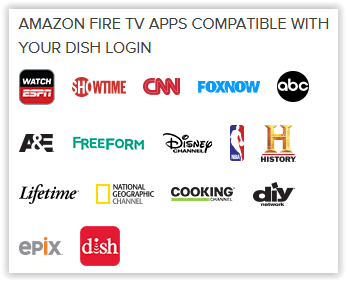 Networks on Dish for Fire TV