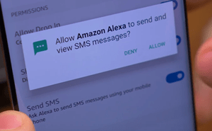 allow Amazon Alexa to send and view SMS messages