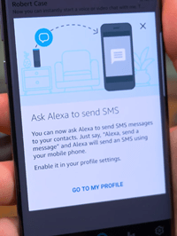ask Alexa to send SMS