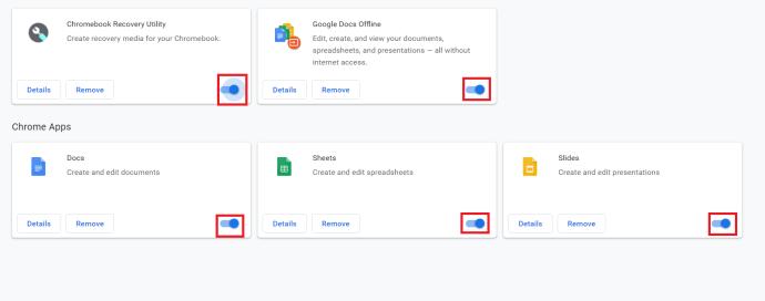 Chrome Extensions tab