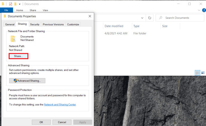Folder Share Properties
