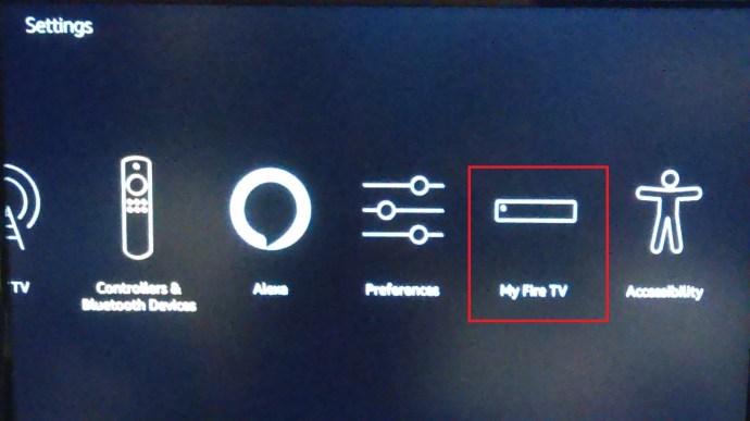 Fire TV Settings Menu