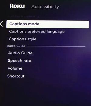captions mode