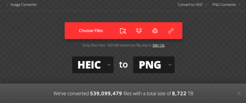 files from heic to png how to