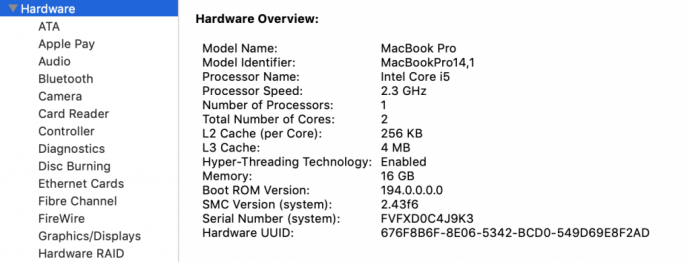 Mac hardware overview