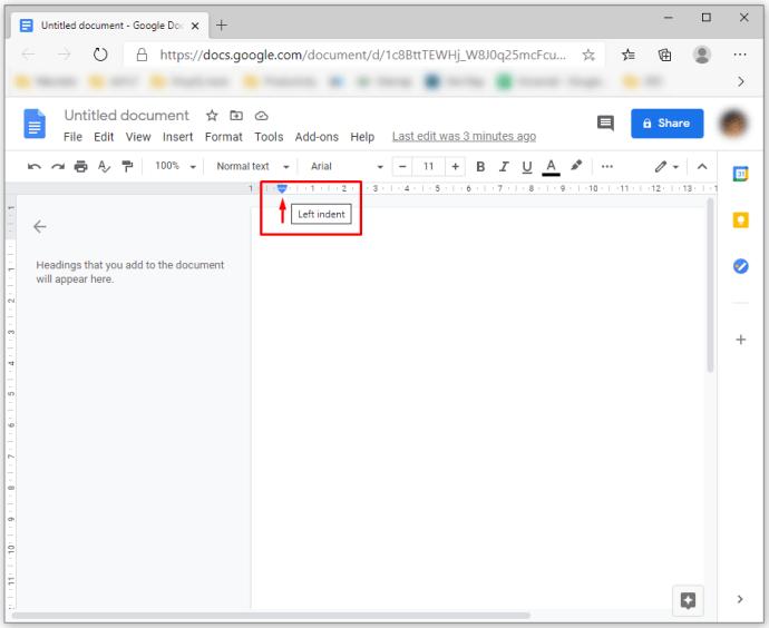 cara ubah margin google docs