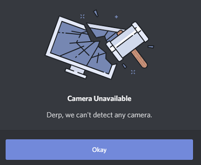 can't detect camera