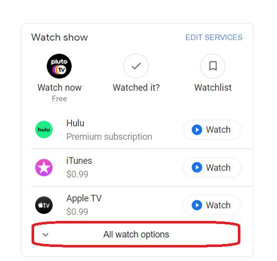 Opciones de búsqueda de Google