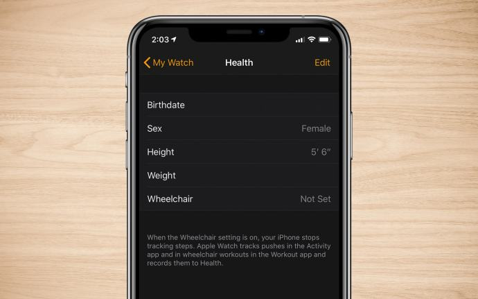 iphone apple watch health stats