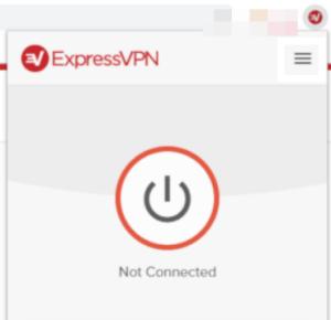 ExpressVPN Connect button