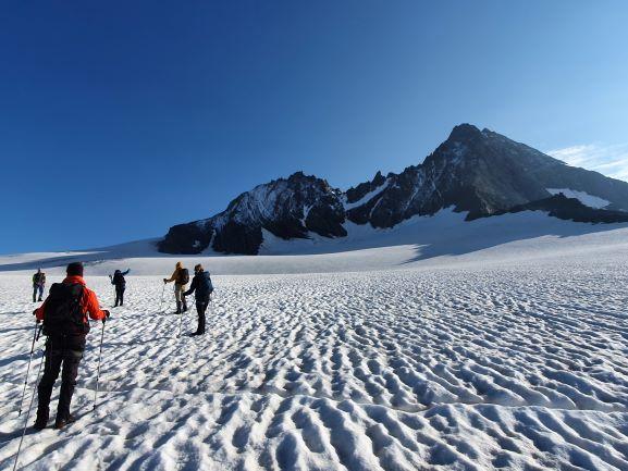 Gletsjertocht met uitzicht op de Grossglockner 3798m