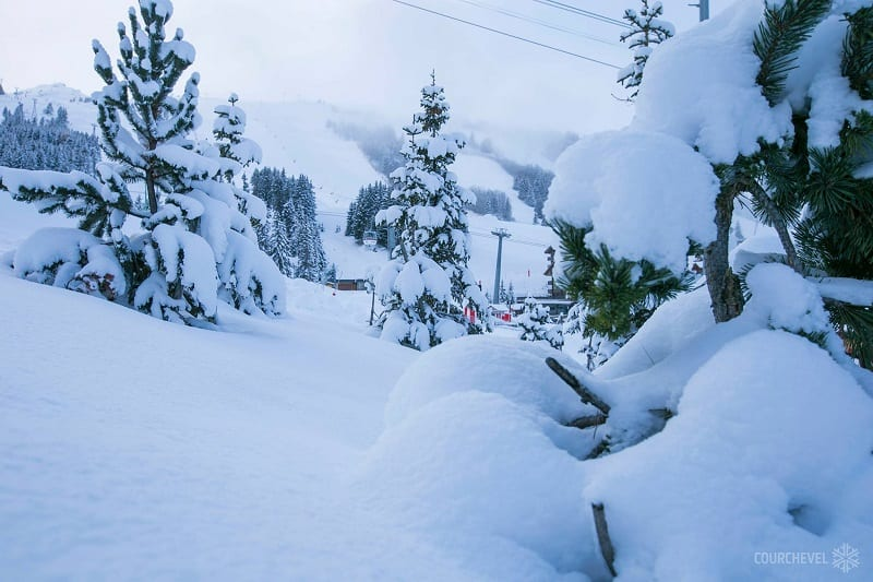 Courchevel Early Snow falls
