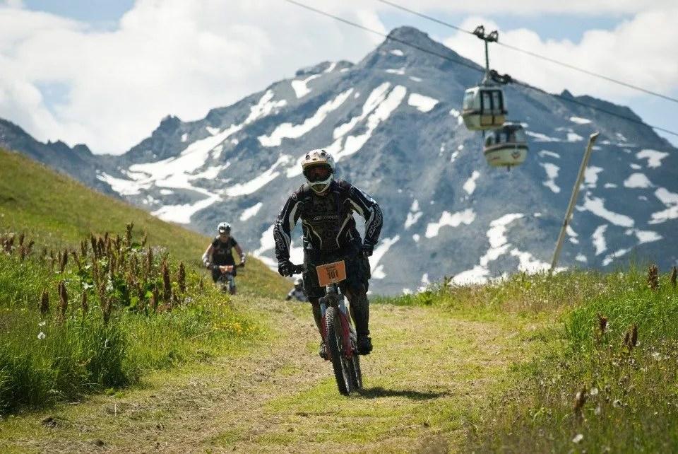 Mountain biking in the Three Valleys Addict Tour