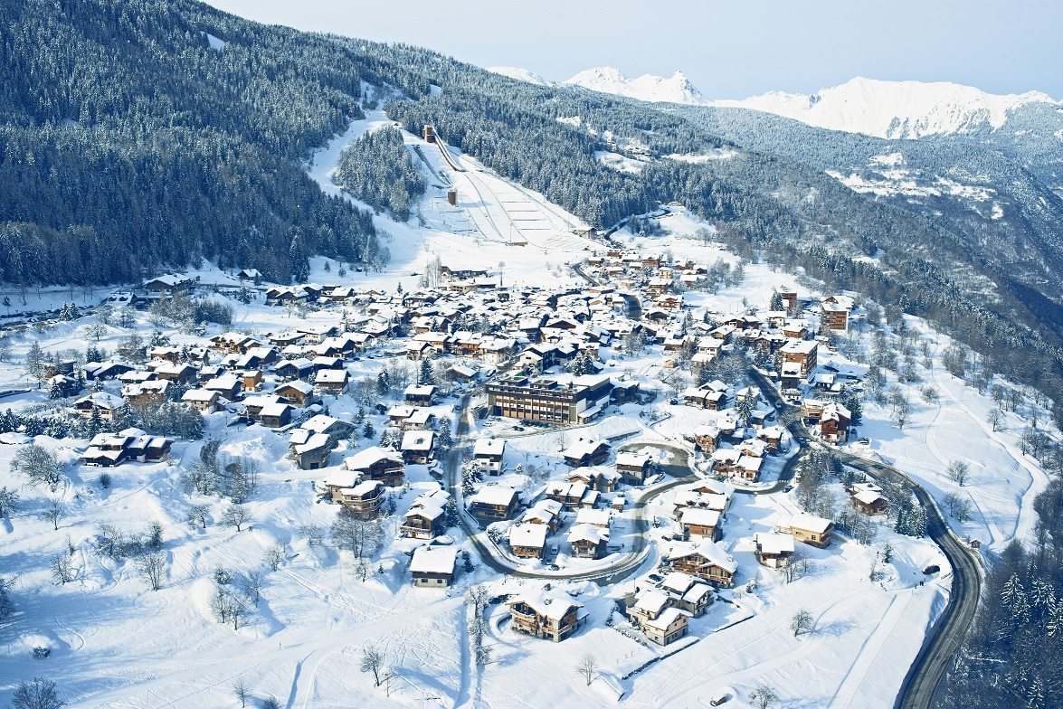 Aerial View of Courchevel Le Praz