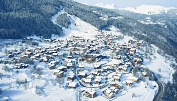 Aerial View of Courchevel Le Praz