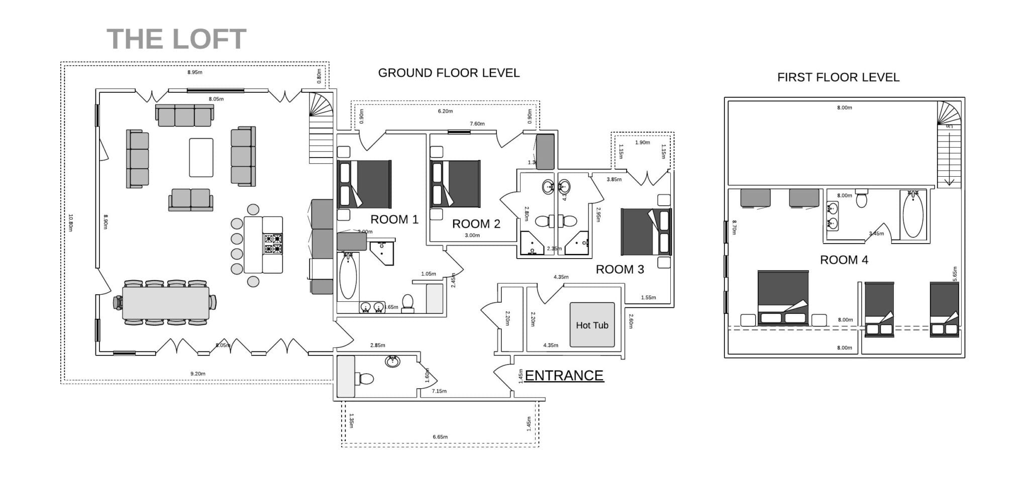 The Loft Courchevel 1650 Moriond floorplan