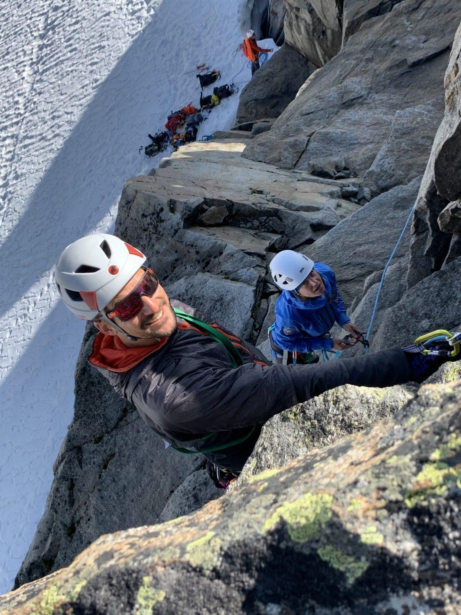 Felsanstieg auf den Vorderen Wilden Turm