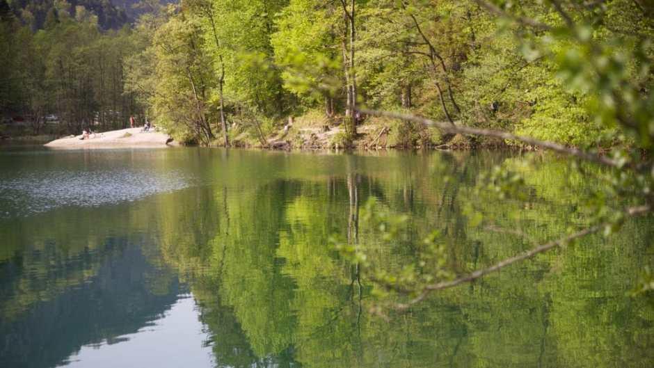 Am Thumsse gibt es einige leicht erreichbare Wild Swimming Stände - wenn man einen Parkplatz findet...