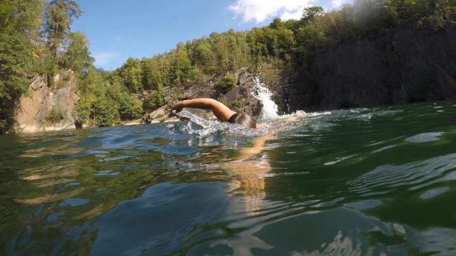 Diese Wildswimming-Pools sind sehr schön zum Schwimmen aber manchmal schwierig zum Ein- und Aussteigen.