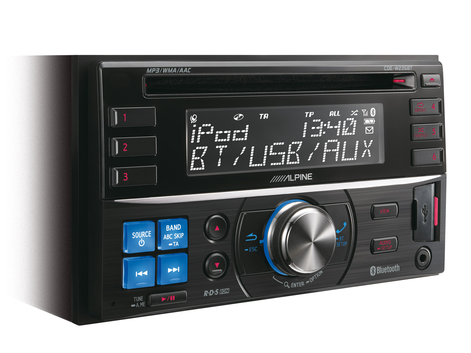 hight resolution of alpine double din stereo