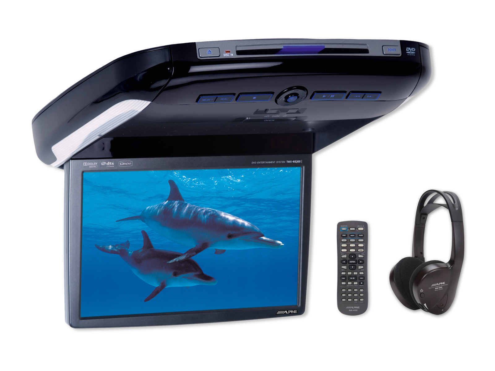 hight resolution of 10 2 wvga overhead monitor with dvd player
