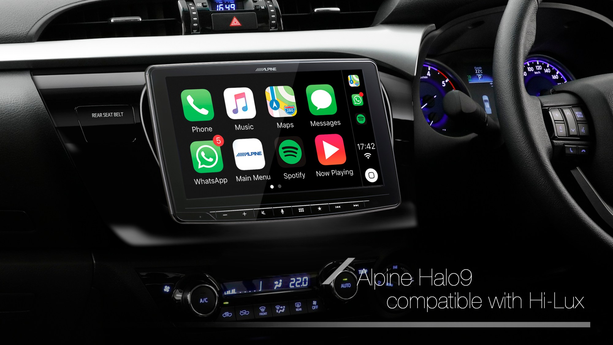 hight resolution of alpine halo9 compatible with a myriad of vehicles with single din and double din slots