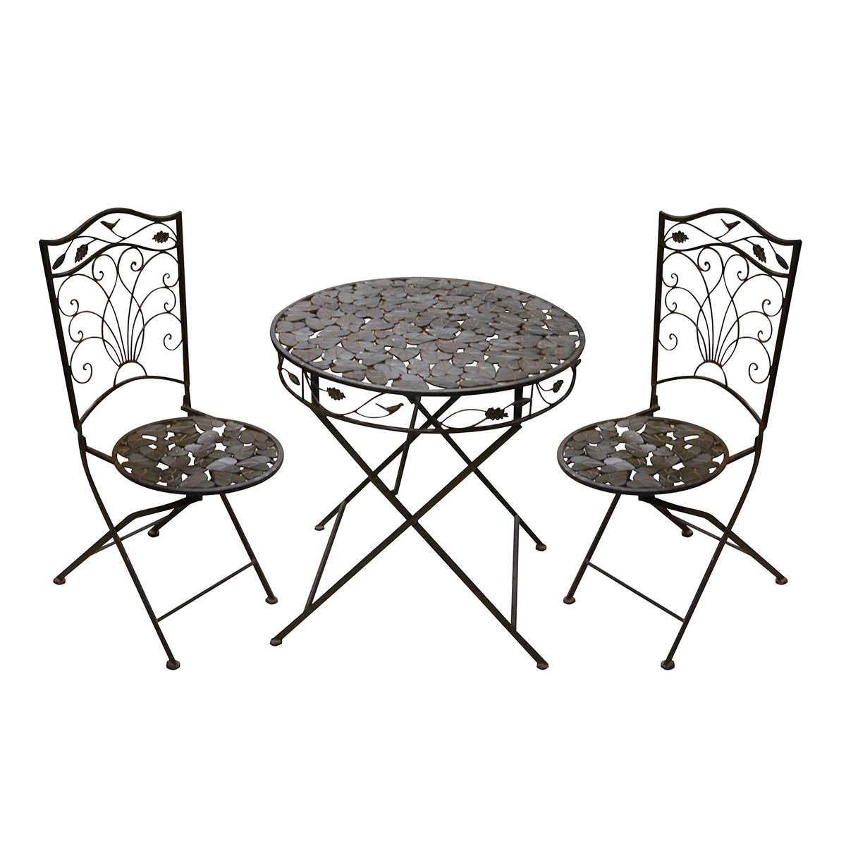 2 chair bistro set home goods chairs iron 1 table and