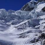 Chopicalqui Glacier And Rope Teams