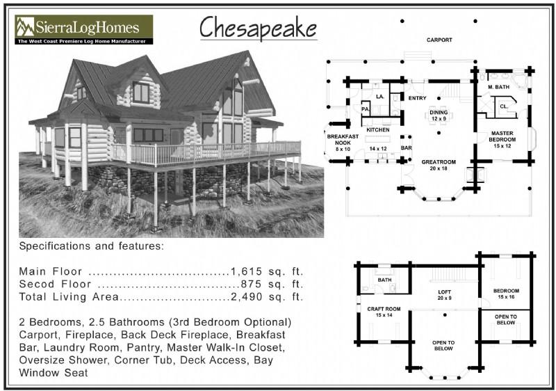2,000 to 2,500 Sq Ft « Alpine Blue Log Homes