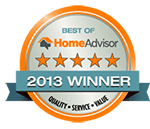 Best of Home Advisor Winner - 2013