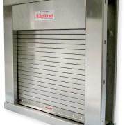 Fire Shut Rolling Counter Shutter & Split Frame Door