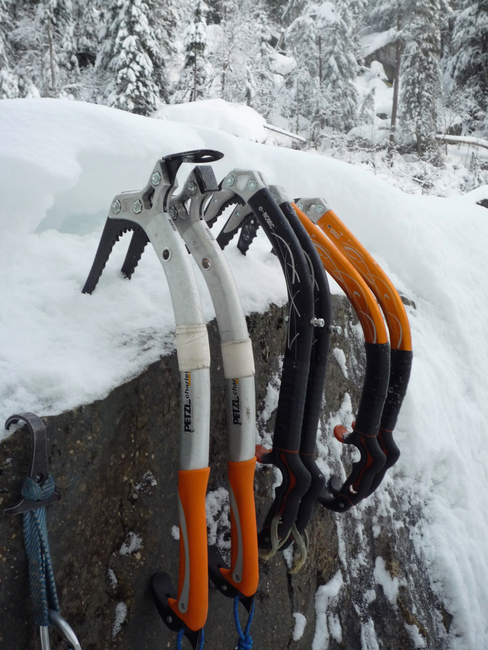 Petzl ice axes