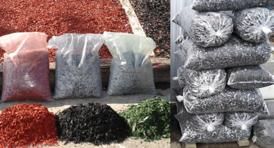 Mulch Bags Clear Unprinted Poly Bags  Alpine Packaging
