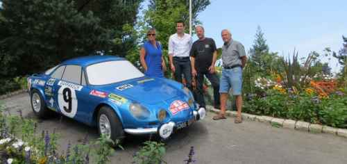 Dieppe : la Berlinette reprend sa place sur le rond-point