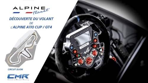 Le volant de l'Alpine A110 CUP & GT4 en détail