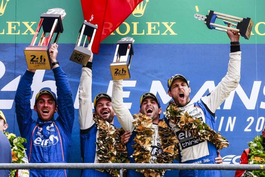 Signatech Alpine Matmut fait coup double : nouvelle victoire aux 24 Heures du Mans et titre mondial en LMP2 !
