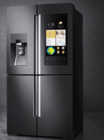 black smart fridge