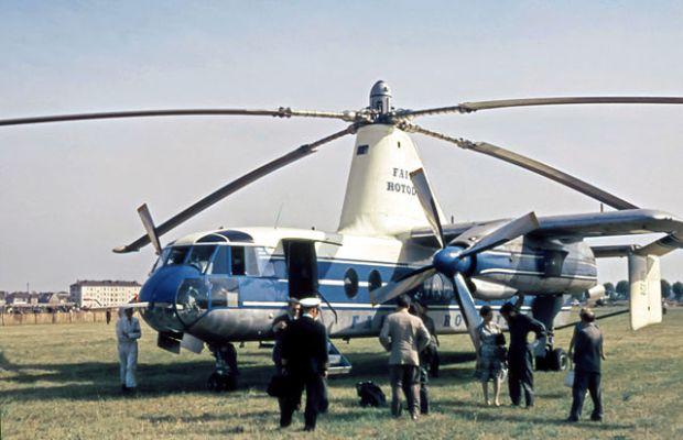"""Un precioso ejemplo de helicóptero que se """"convierte"""" en avión, de entre los muchos que aparecen en el capítulo de los híbridos similares. (Johannes Thinesen)."""