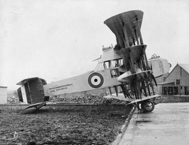 Prototipo británico de 1917 de avión cazador de dirigibles de la Primera Guerra Mundial. (Australian War Memorial).