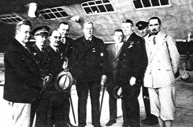 Viajeros del Graf Zeppelin.