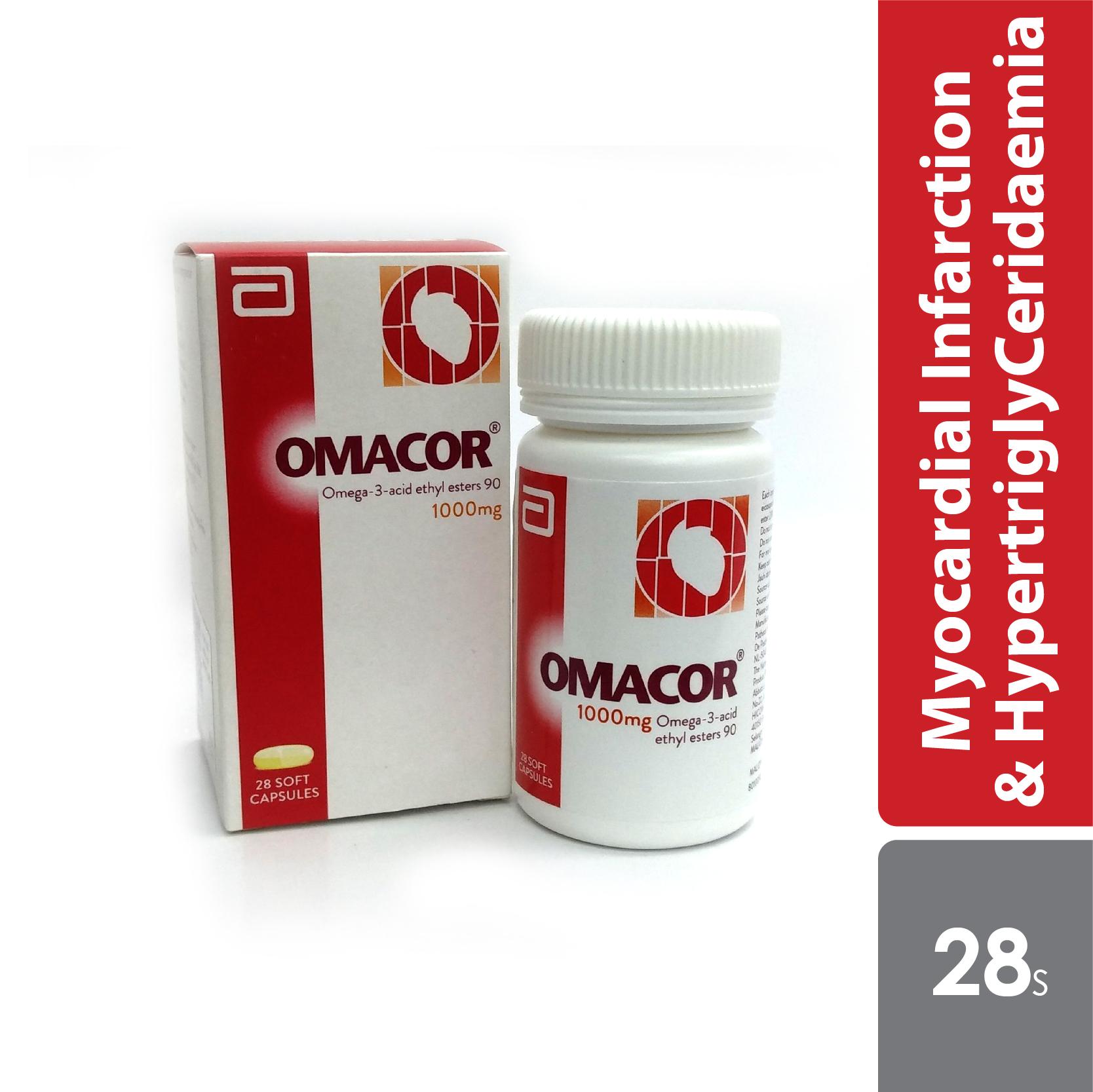 Omacor Omega-3 1000mg 28s - Alpro Pharmacy