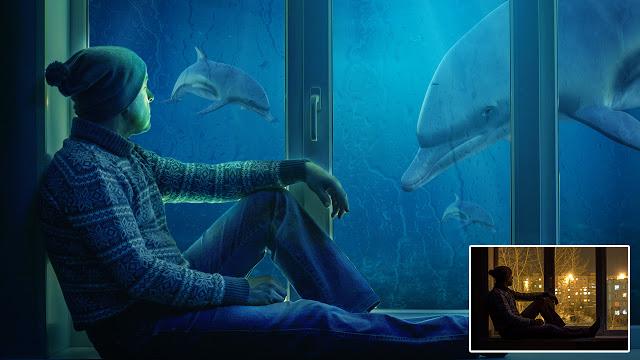 Under Water Window Manipulation in Photoshop