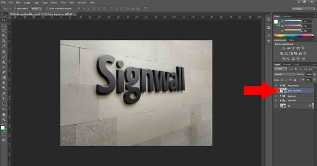 How to edit logo mockup