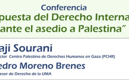 Conferencia Raji Sourani - Pedro Moreno Brenes