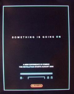Cartel promocional del Nintendo Revolution ?…