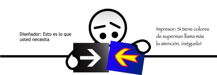 Diseño de señalización formal vs creatividad del impresor