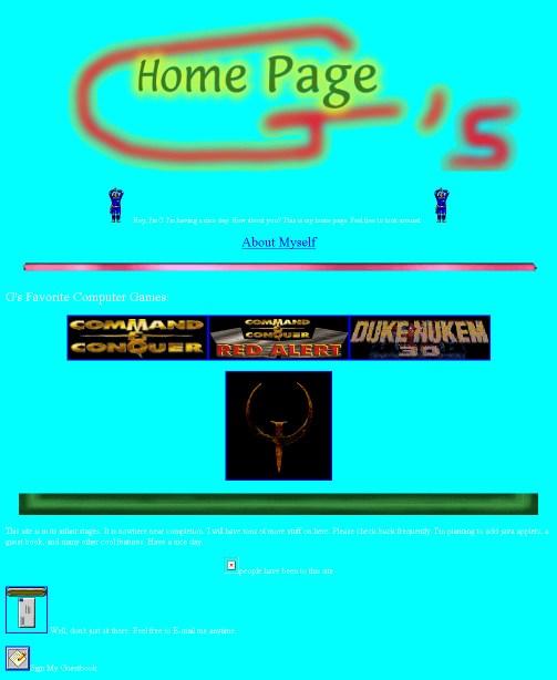 Sitio web hecho en Paint