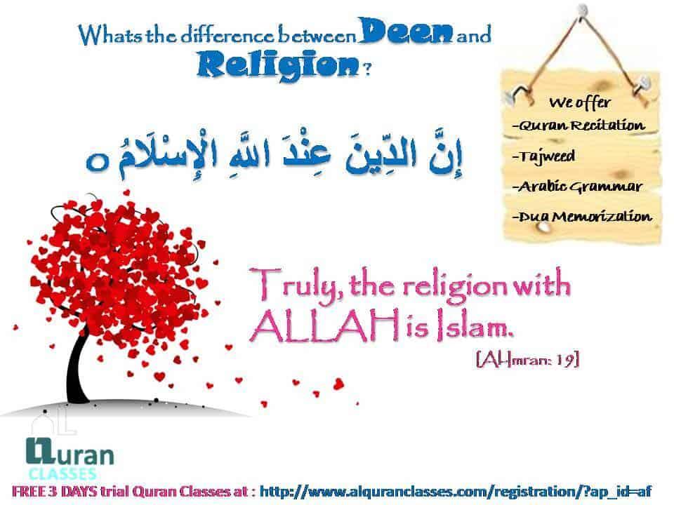 innaddeena indallhil islam, the religion with ALLAH is islam, Al im ran 13