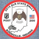 2015 Indiana ALR Rally Patch